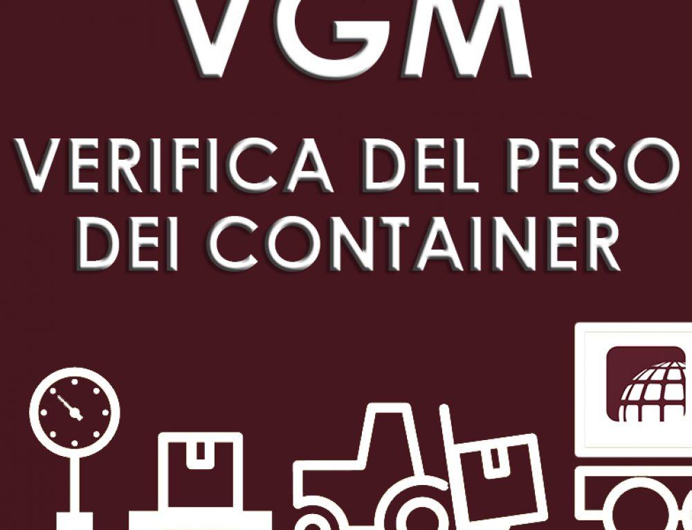 VGM – VERIFICA DEL PESO DEI CONTAINER
