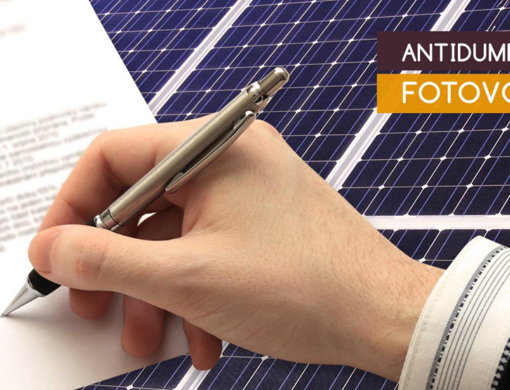 Stop ai dazi antidumping sui pannelli solari dalla Cina